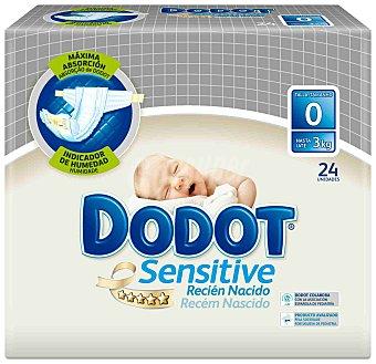 Dodot Sensitive Pañal recién nacido Talla 0 (hasta 3 kg.) 24 ud