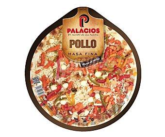 Palacios Pizza de masa fina con pollo 410 gr