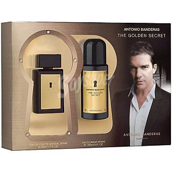 ANTONIO BANDERAS The Golden Secret eau de toilette natural masculina spray 50 ml + desodorante spray 150 ml Spray 50 ml