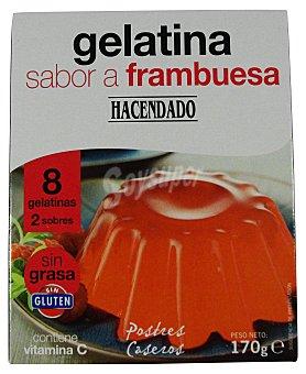 Hacendado Gelatina polvo frambuesa (8 raciones) Caja 170 g
