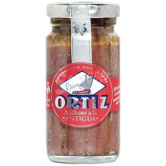 """Ortiz Anchoas del Cantábrico en aceite de oliva """"a la antigua"""" 'El Velero' 95 g"""