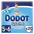 Bañador pañal sedechable Dodot splashers Bundle Talla 5 -6 20 ud Pack 2 x 10 ud Dodot
