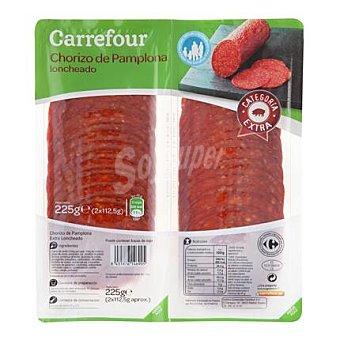 Carrefour Chorizo pamplona en lonchas Pack 2x112,5 g