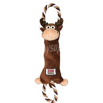 KONG KNOTS Juguete de cuerda con nudos modelo alce medida 33 cm 1 unidad