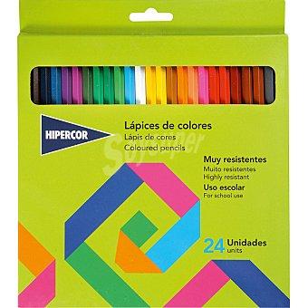 Hipercor Estuche con 24 lápices de colores