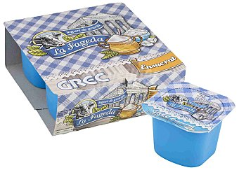 La Fageda Yogur Griego natural azucarado 4x125 G