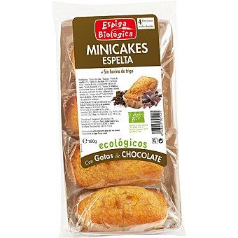 Espiga biologica Minicake de espelta con chocolate ecológico Envase 45 g