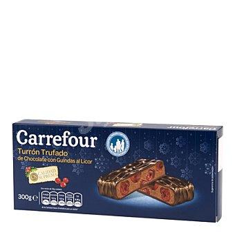 Carrefour Turrón trufado de chocolate con guindas al licor 300 g