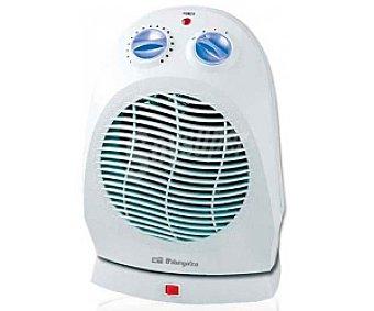 ORBEGOZO FH5011 Termoventilador vertical, potencia max: 2000W, 2 niveles de calor, función ventilación, termostato, oscilante