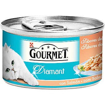 Gourmet Purina Sabores del océano con salmón para gato Diamant lata 85 g
