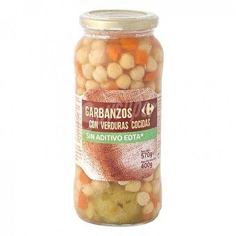 Carrefour Combinado de garbanzos con zanahorias y coles de bruselas 400 G 400 g
