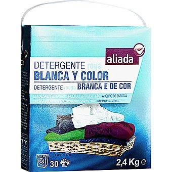 Aliada Detergente máquina polvo para ropa blanca y de color Maleta 30 cacitos