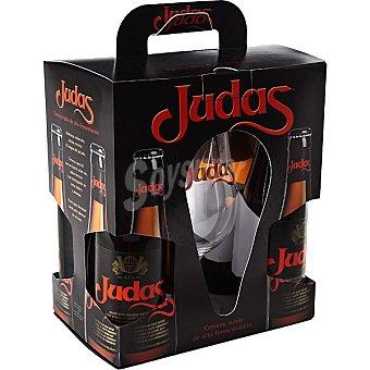 Judas Cerveza rubia exótica belga pack 4 botella 33 cl Pack 4 botella 33 cl