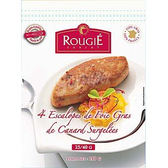 ROUGIE escalope de foie de pato paquete 140 g 4 unidades