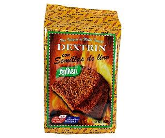 Santiveri Pan tostado integral dextrinado con semillas de lino Paquete de 300 gramos