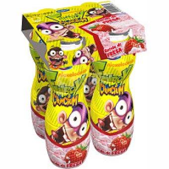 Danone Batido de yogur de fresa Pack 4x165 g