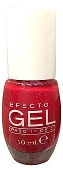 DELIPLUS Laca de uñas efecto gel Nº 661 rojo (paso 1º de 2) 1 unidad