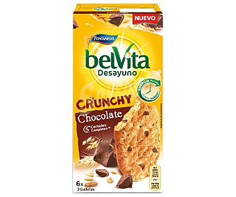 Belvita Fontaneda Desayuno Crunchy Chocolate 5 cereales completos Caja de 300 g