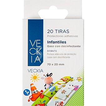 Veckia Tiritas protectoras adhesivas infantiles Caja 20 unidades