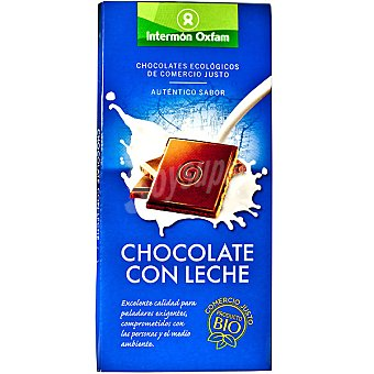 Intermón Oxfam Chocolate con leche ecologico Tableta 100 g