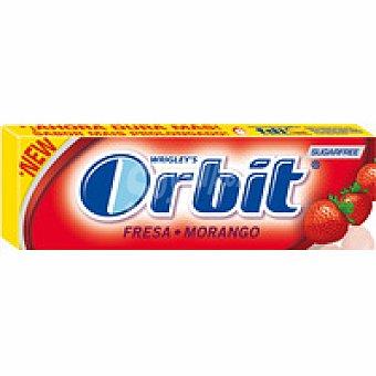 Orbit Chicles sabor fresa ácida en grageas Paquete 10 grageas