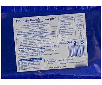 Auchan Filete de bacalao 400 gramos