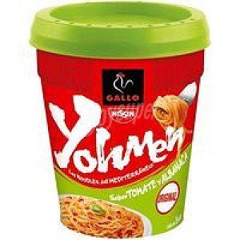 Yohmen Noodles de tomate-albahaca Gallo Nissin vaso 78 g