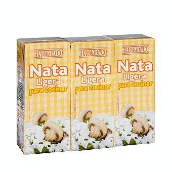 Hacendado Nata para cocinar ligera Pack 3 x 200 ml - 600 ml