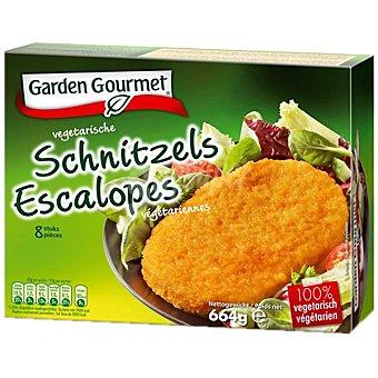 GARDEN GOURMET Schnitzel Escalopes de soja y proteína de trigo 100% vegetal Estuche 664 g