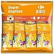 Aperitivo de maíz Super Zapitos Carrefour Kids sin gluten Pack de 8 unidades de 6 g Carrefour Kids