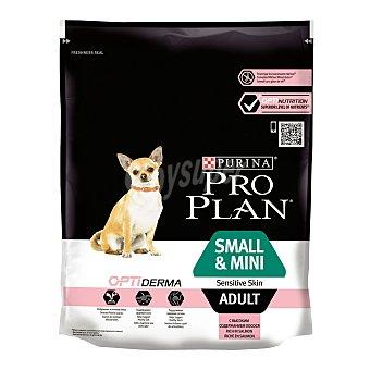 Purina Pro Plan Optiderma pienso especial para perros adultos de raza small y mini rico en salmón Envase 700 g