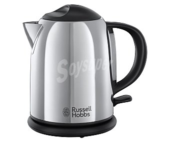 Chester Hervidora de acero inoxidable russell hobbs , capacidad , interruptor on/off, base 360°, potencia 2200W 1L