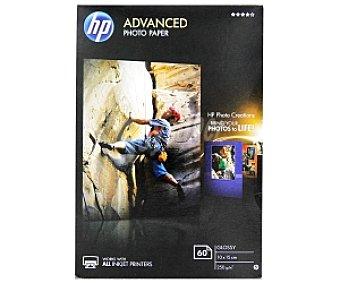HP Advanced Papel Foto Glossy 10x15cm sin bordes, 250 Gramos 60 Hojas