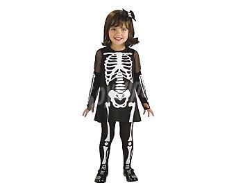 HAUNTED HOUSE Disfraz infantil esqueleto para niñas, Huesitas tallla 1-2 años, Halloween Esqueleto huesos 1-2años