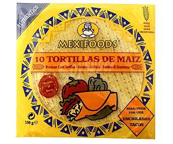 Mexifoods Tortillas de Maíz 10u (250 g)