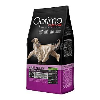 Optima Nova Super premium medium breeds pienso para perros adultos de raza mediana con pollo y arroz Bolsa 12 kg