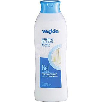 Veckia gel de baño nutritivo con proteínas de leche pH 5.5 para piel normal Bote 750 ml