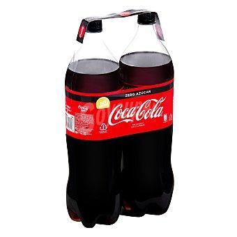 Coca-Cola Zero Refresco de cola zero azúcar Pack 2 botellas x 2 l