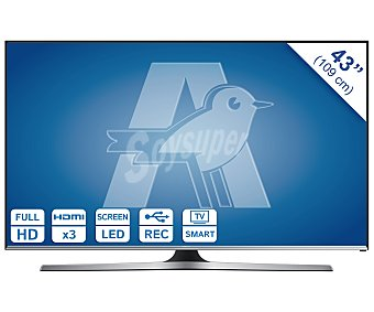 "SAMSUNG 43J5500 Televisión 43"" LED Full HD, smart TV, wifi, TDT HD, USB reproductor y grabador, hdmi, 400HZ. Televisor de gran formato"