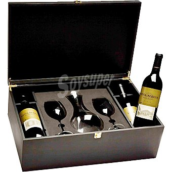 VIÑA ALBINA vino tinto reserva D.O. Rioja + decantador + 2 copas Estuche 4 botellas 75 cl