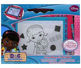 Disney Pizarra Magnética Doctora Juguetes, Incluye Lápiz, y 4 Figuras Magnéticas 1 Unidad