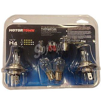 MOTORTOWN H4 12 V 60/55 W kit de lámparas de automóvil universal halógenas de cruce y carretera