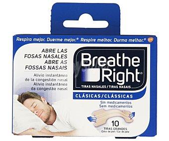 Breathe Right Tiras que abren las fosas nasales 10 unidades