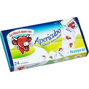 LA VACA QUE RIE Apericubo Queso natural en cubos especial para aperitivo 24 porciones Caja 125 g