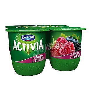 Activia Danone Activia con frutas del bosque 4 unidades de 125 g