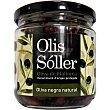 Aceitunas negras con hueso en aceite D.O.P. Mallorca Envase 200 g neto escurrido Olis soller