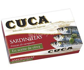 CUCA Sardinillas en aceite de oliva lata 63 g neto escurrido