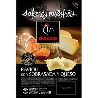 Gallo Ravioli fresco relleno de sobrasada y queso Sabores Nuestros Bandeja 250 g