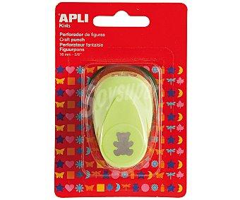 APLI Perforadora de papel con forma de osito, de color verde y de 16 milímetros 1 unidad