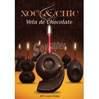 Xoc & Chic Vela de chocolate Nº 9 Pack 1 unid